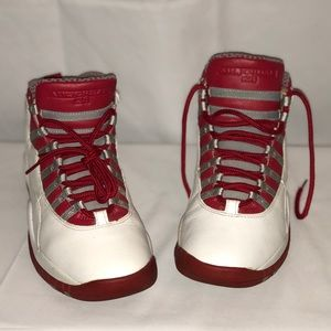 Air Jordan's size 8. Red, white and Grey. 1ofakind